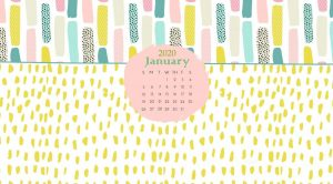 January 2020 Wallpaper with Calendar