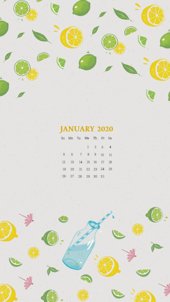 January 2020 iPhone Wallpaper