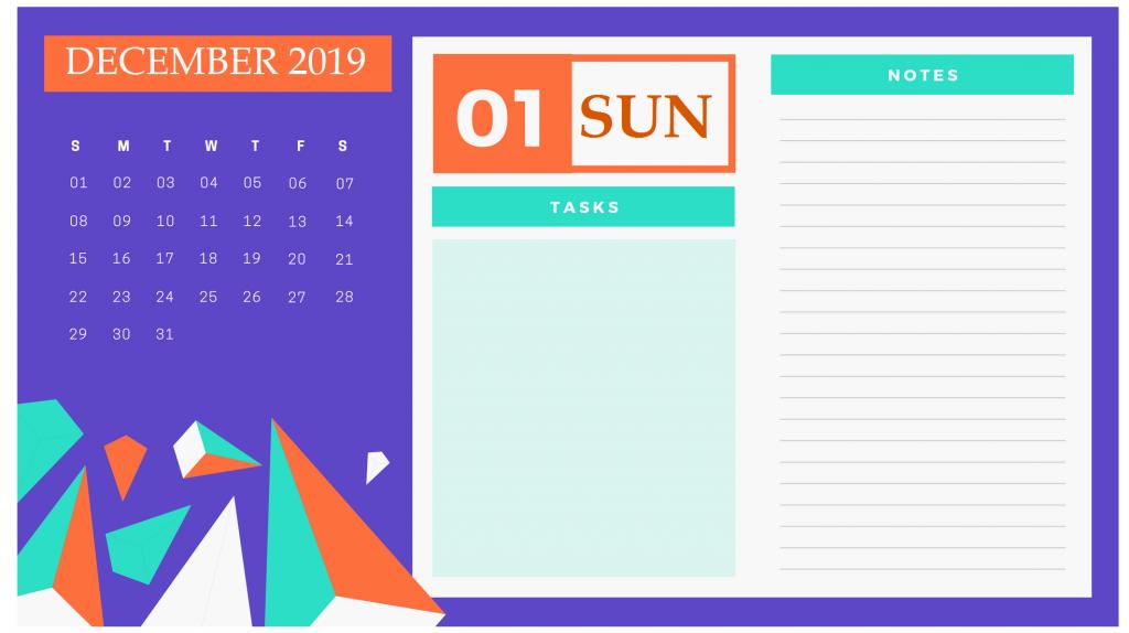 Latest December 2019 Calendar