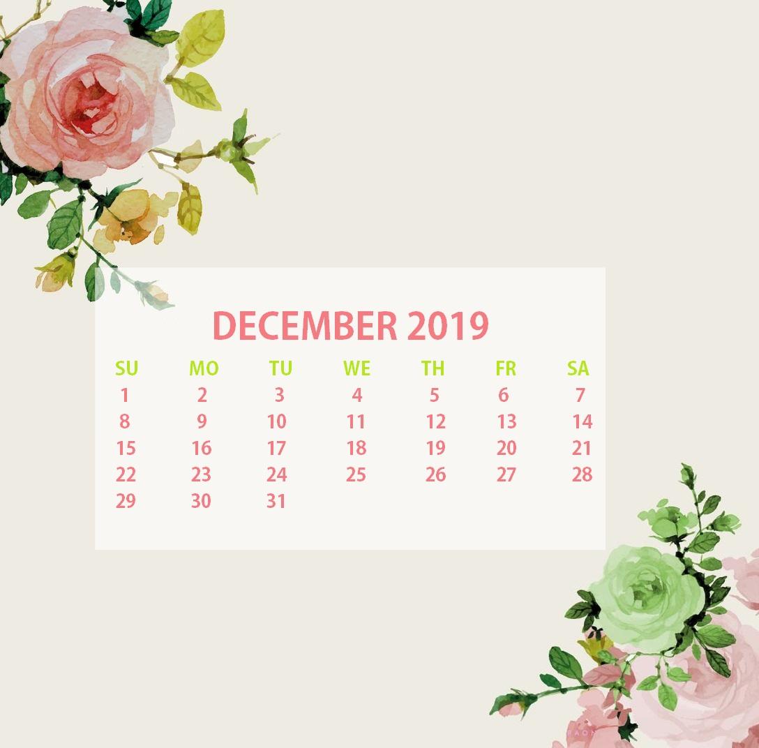 Latest December 2019 Floral Calendar