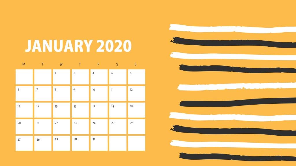 Latest January 2020 Calendar