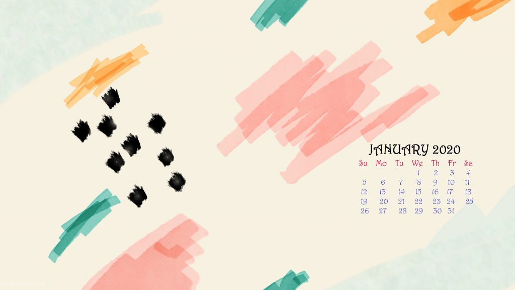 Latest January 2020 Wallpaper Calendar