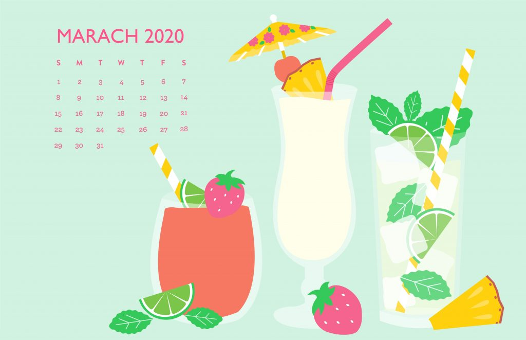 Latest March 2020 Calendar Wallpaper
