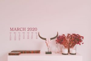 March 2020 HD Wallpaper Calendar