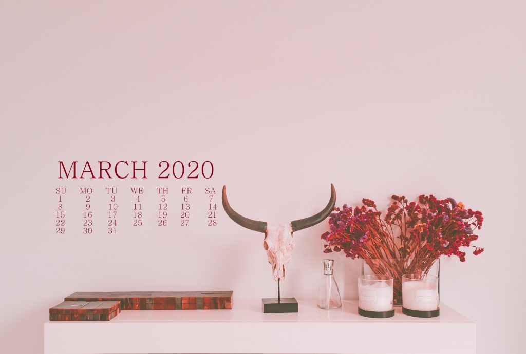 March 2020 HD Wallpaper Calendar