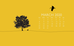 March 2020 Laptop Background Wallpaper