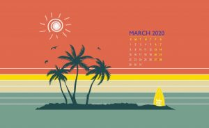 March 2020 Wallpaper Background