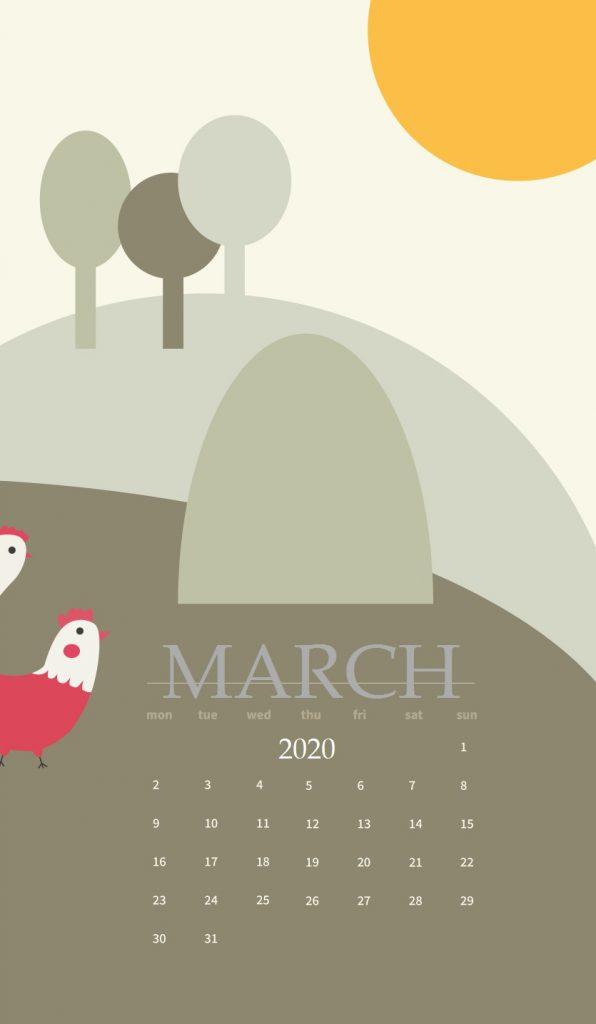 March 2020 iPhone Background Screensaver