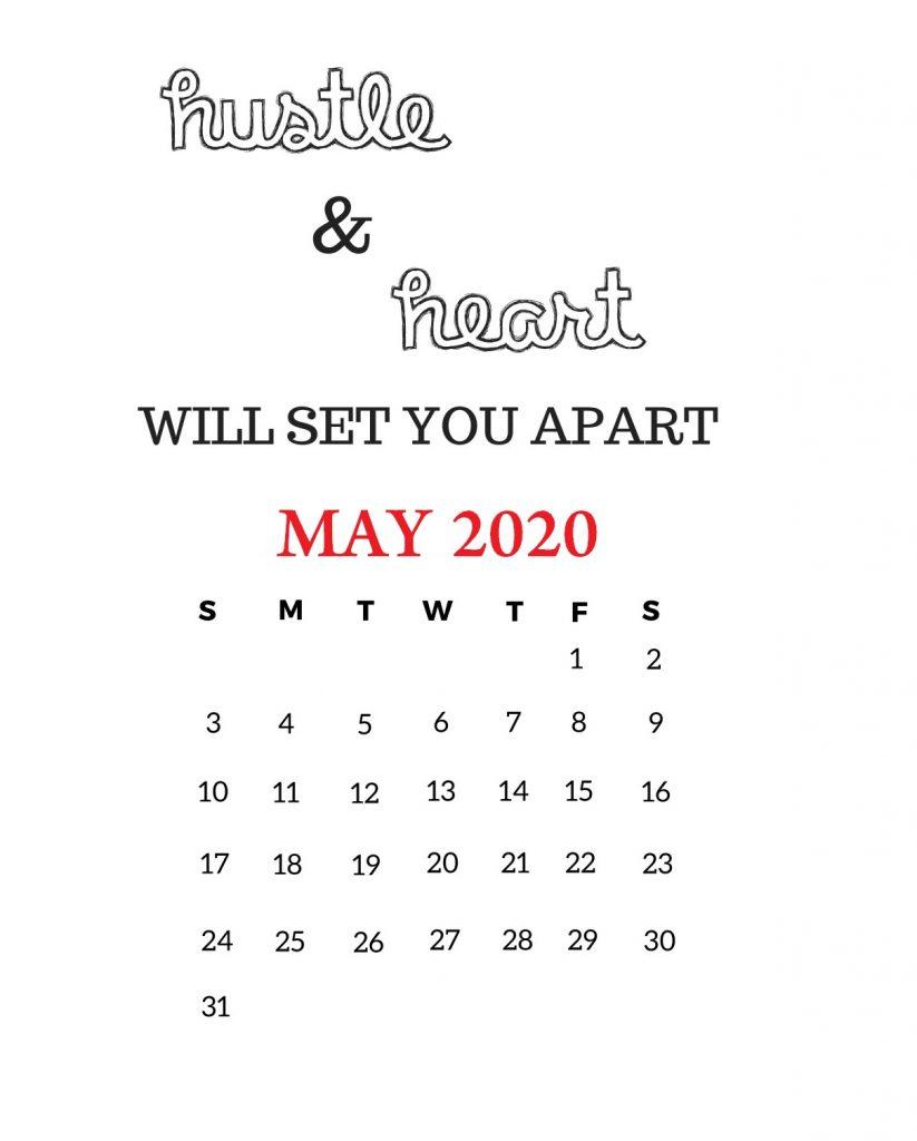May 2020 Motivational Calendar