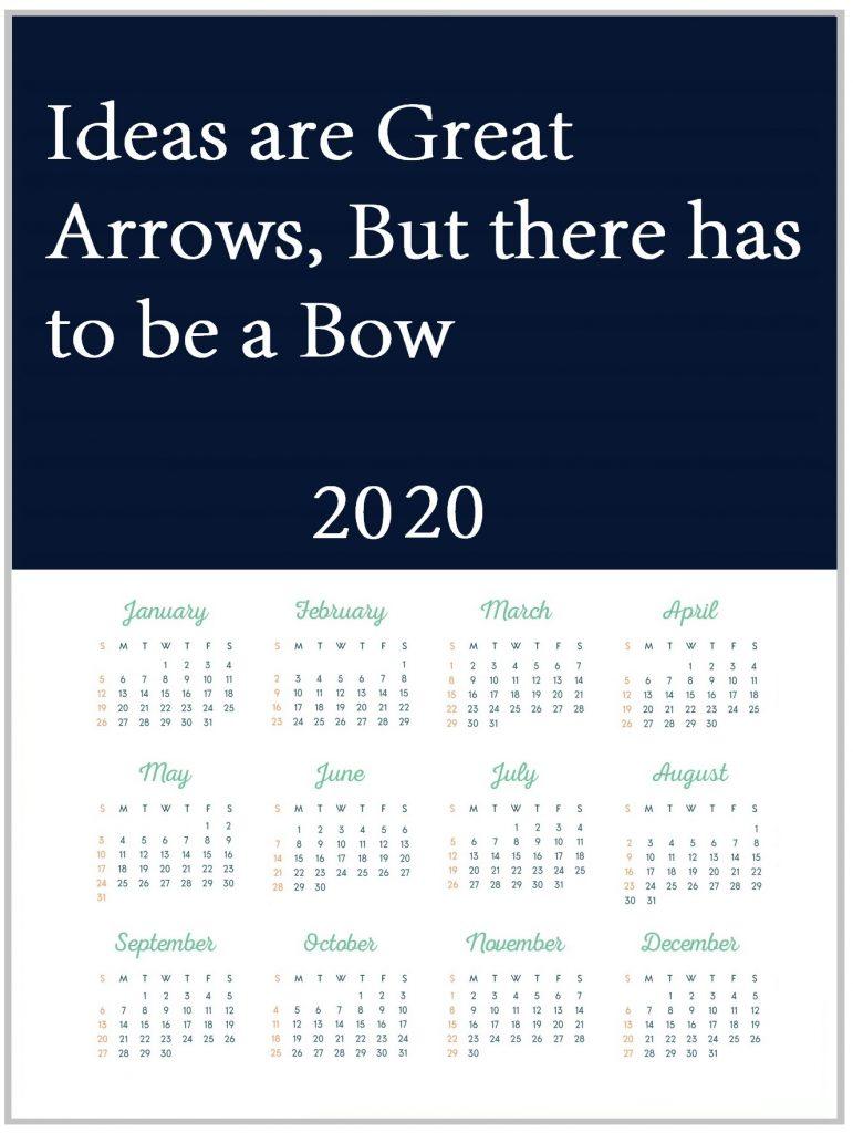 Motivational 2020 Quotes Calendar