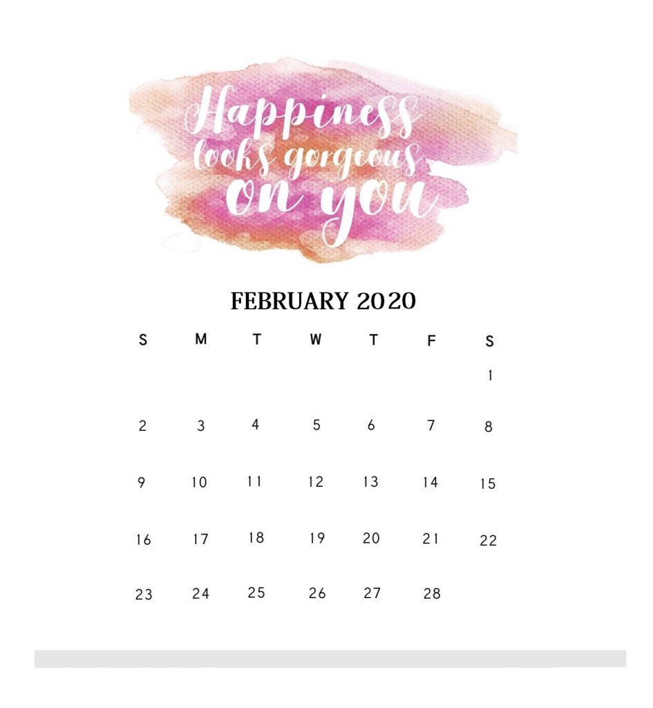 Motivational February 2020 Desk Calendar