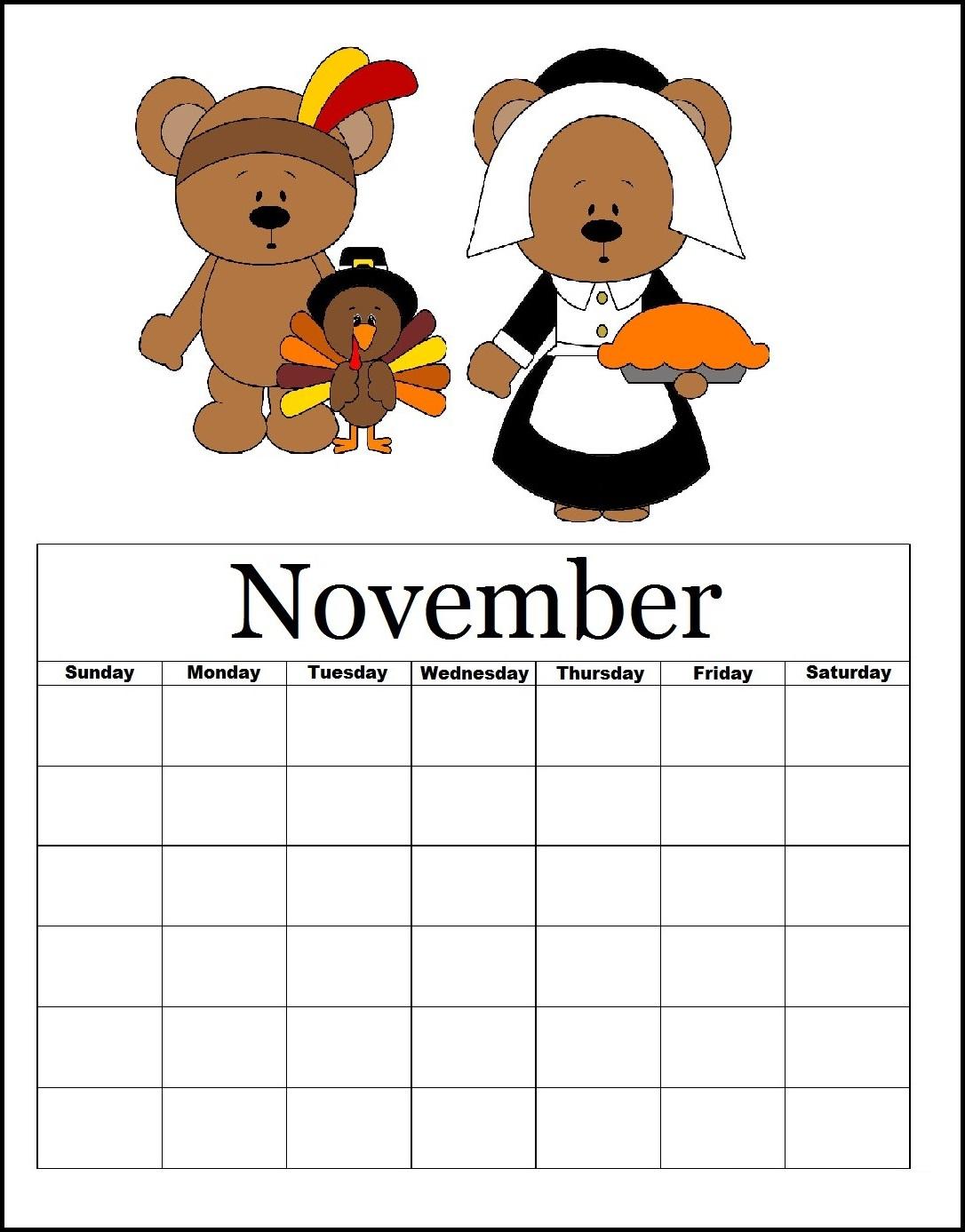 November 2019 Blank Planner