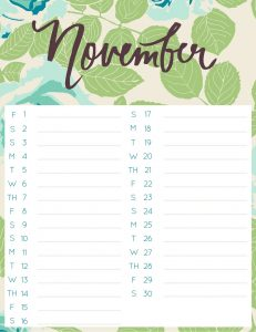 November 2019 Daily To-Do List Template