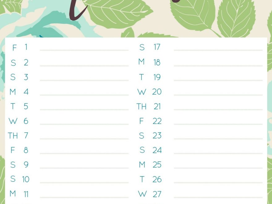 November 2019 Daily To-Do List Template