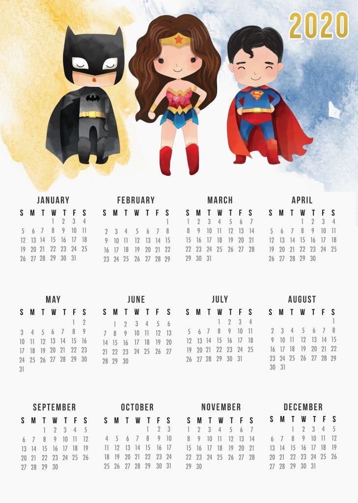 Print Desk 2020 Calendar