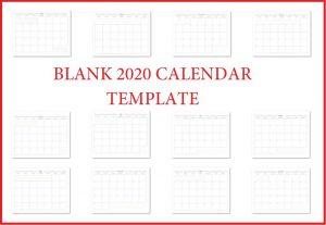 Printable 2020 Blank Calendar Templates