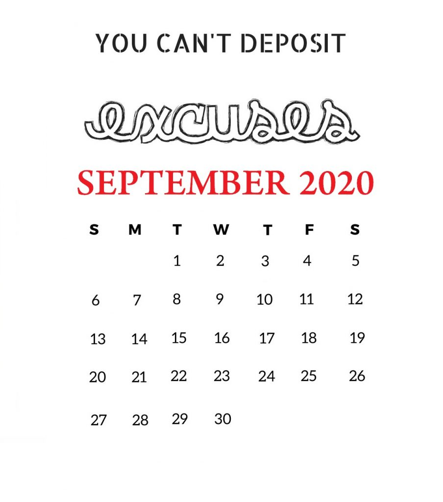 September 2020 Motivational Calendar