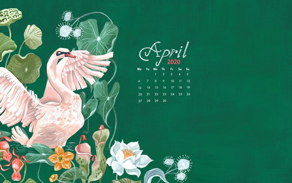 Watercolor April 2020 Wallpaper