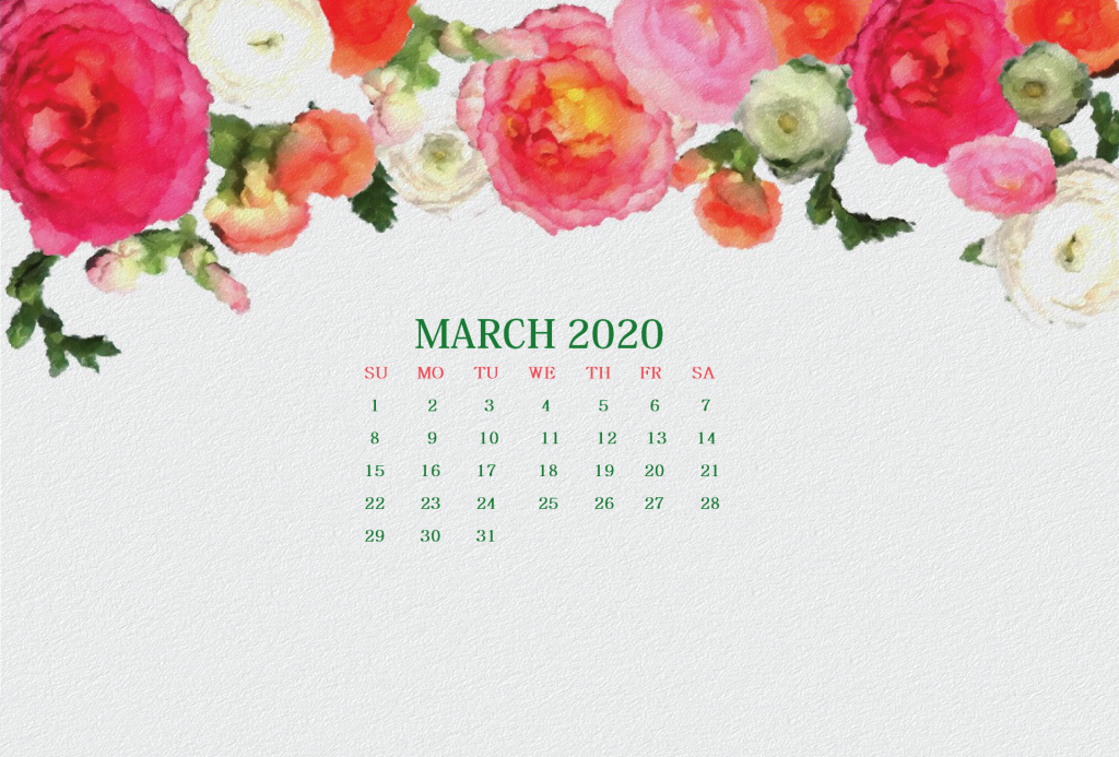 Watercolor March 2020 Wallpaper