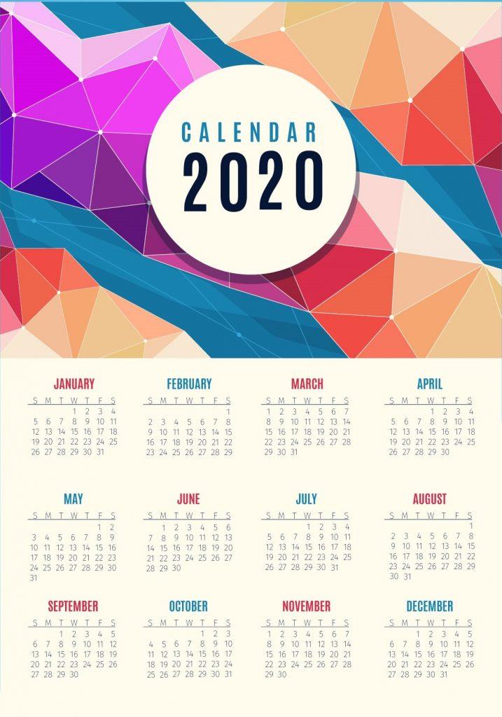 Yearly 2020 Calendar PDF