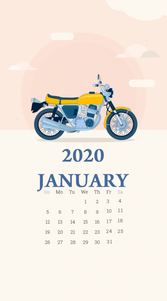 iPhone January 2020 Calendar Wallpaper