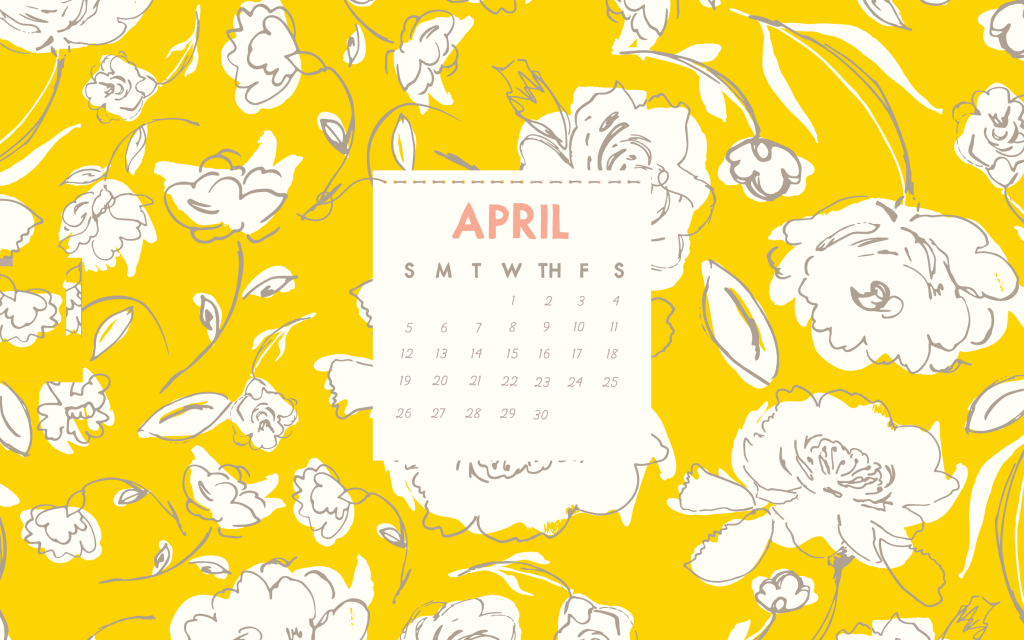April 2020 HD Cute Calendar
