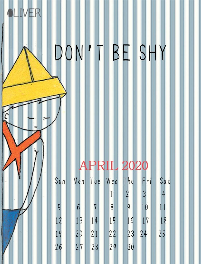 April 2020 iPhone Background Calendar