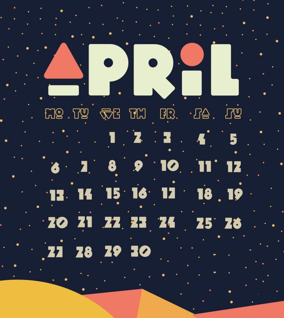 April 2020 iPhone Background Screensaver
