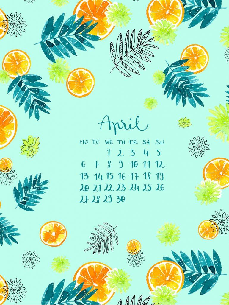Cute April 2020 iPhone Background