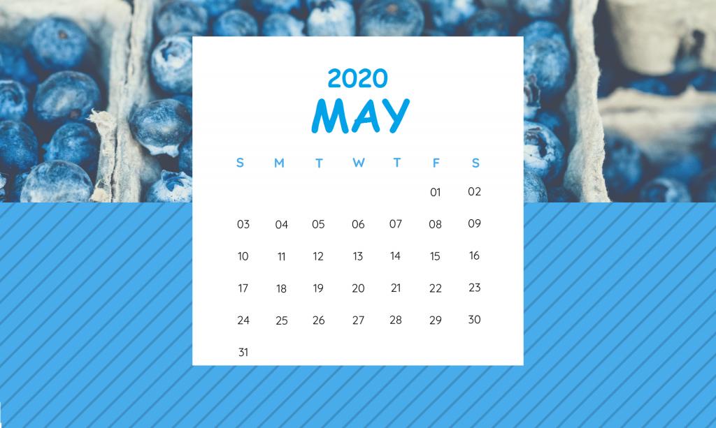 Cute May 2020 Printable Calendar