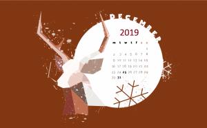 December 2019 Desktop Screensaver Wallpaper