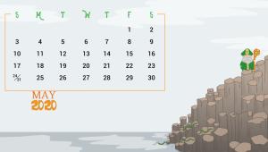 Desktop May 2020 Calendar
