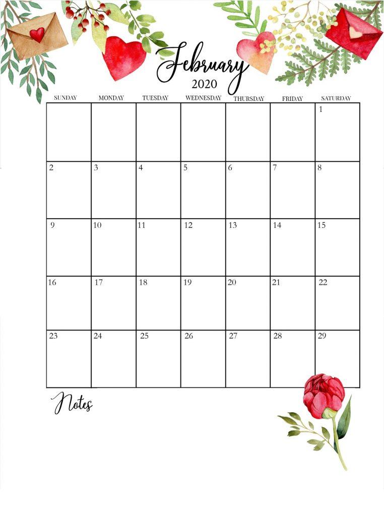 February 2020 Floral Calendar