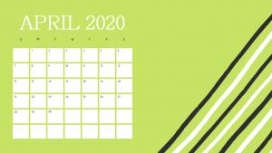 Free April 2020 Calendar Cute