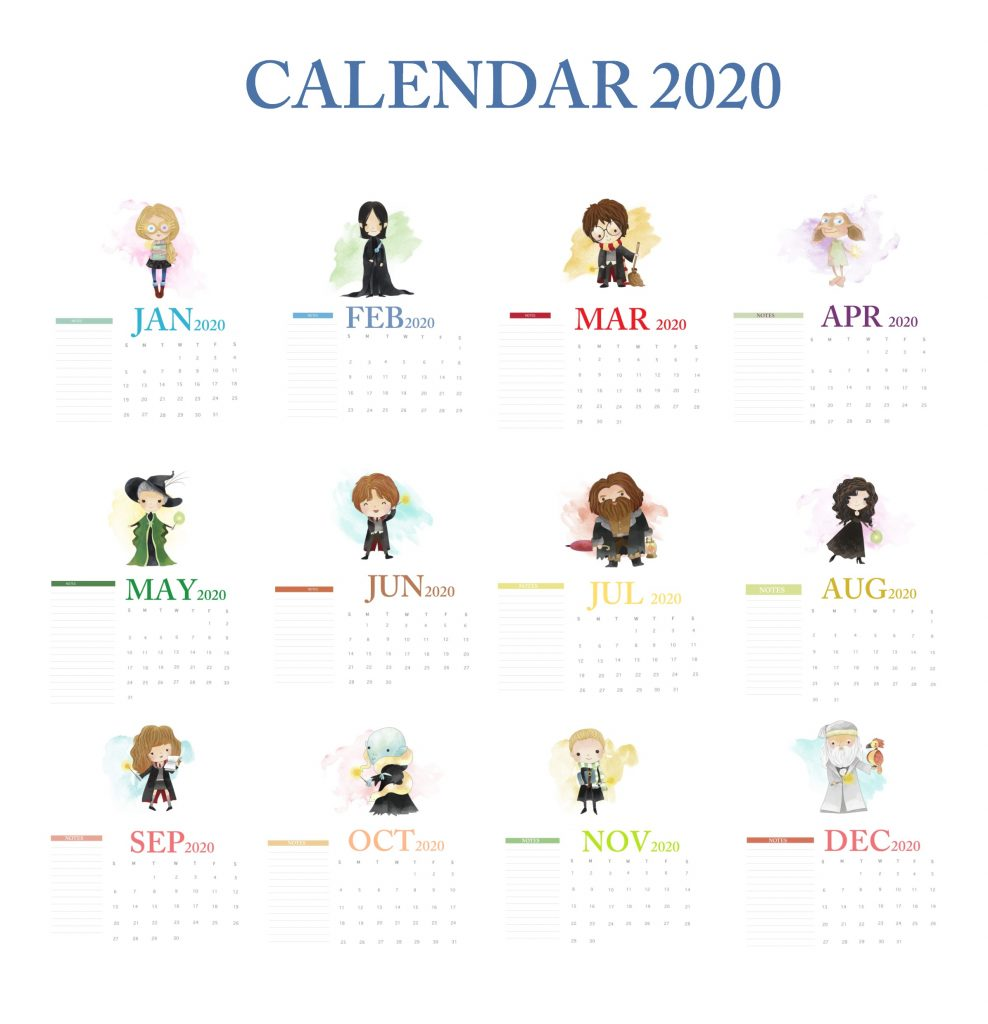 Harry Potter 2020 Calendar