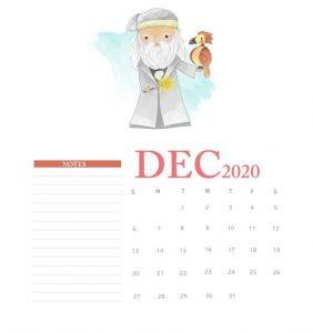 Harry Potter December 2020 Calendar