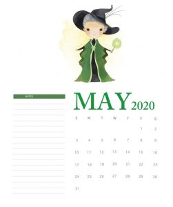 Harry Potter May 2020 Calendar