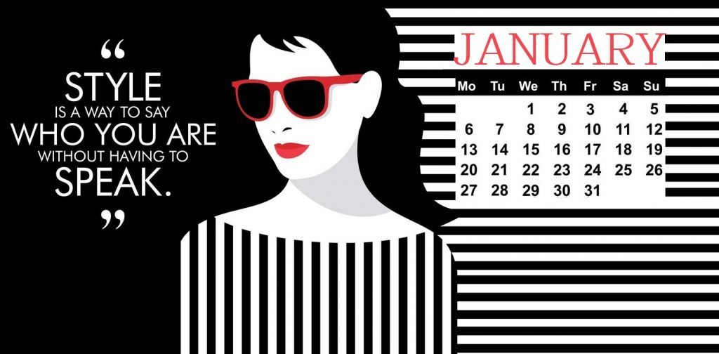 January 2020 Calendar With Quotes