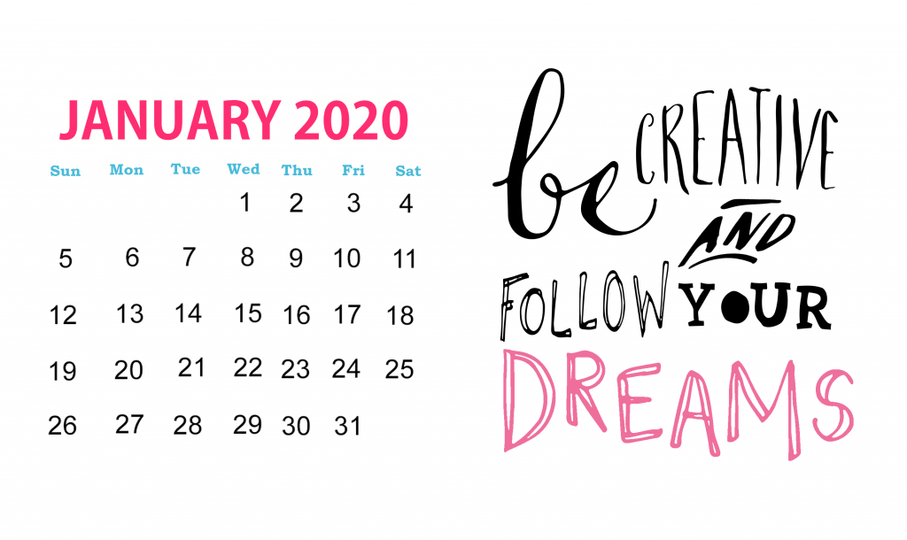January 2020 Famous Quotes Calendar