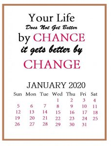 January 2020 Motivational Quotes Calendar