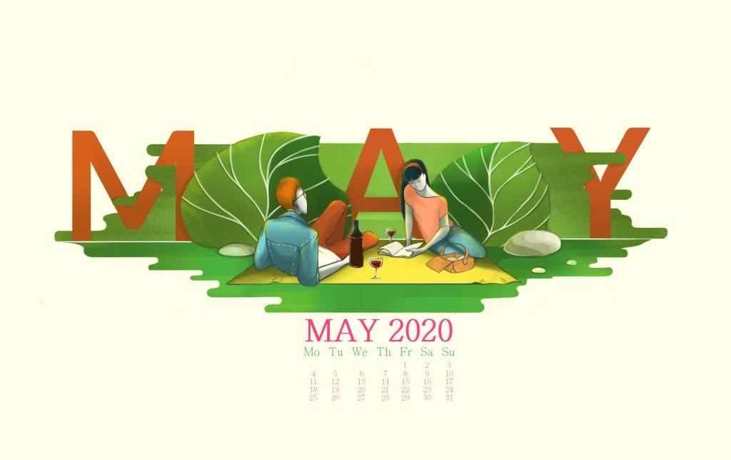 May 2020 Calendar Wallpaper