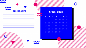 Unique April 2020 Calendar Design