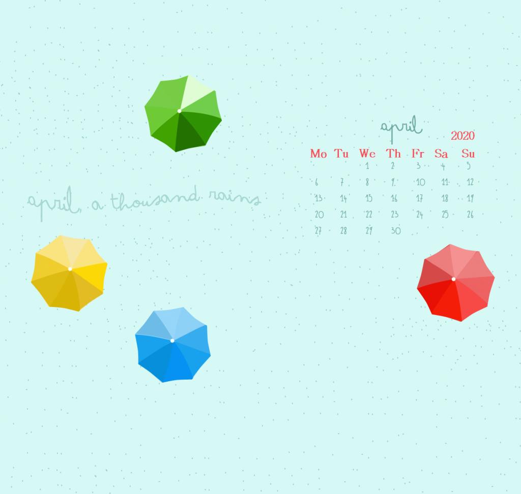 iPhone April 2020 Calendar Wallpaper