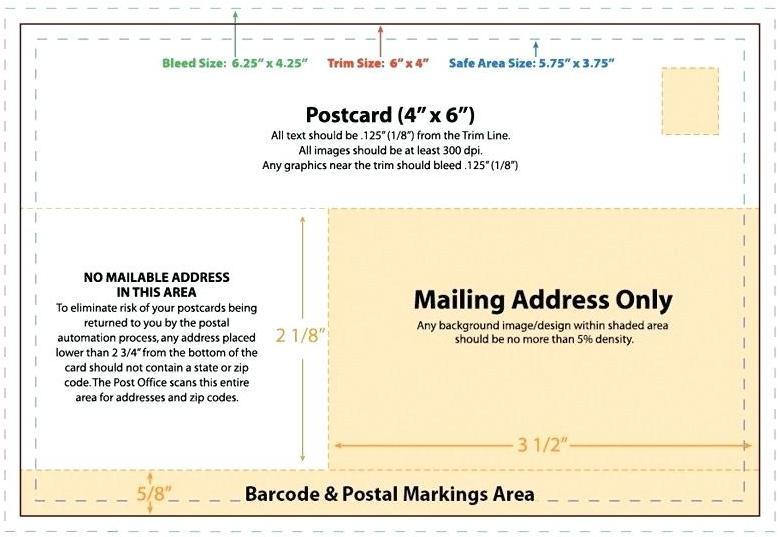 4x6 Postcard Template