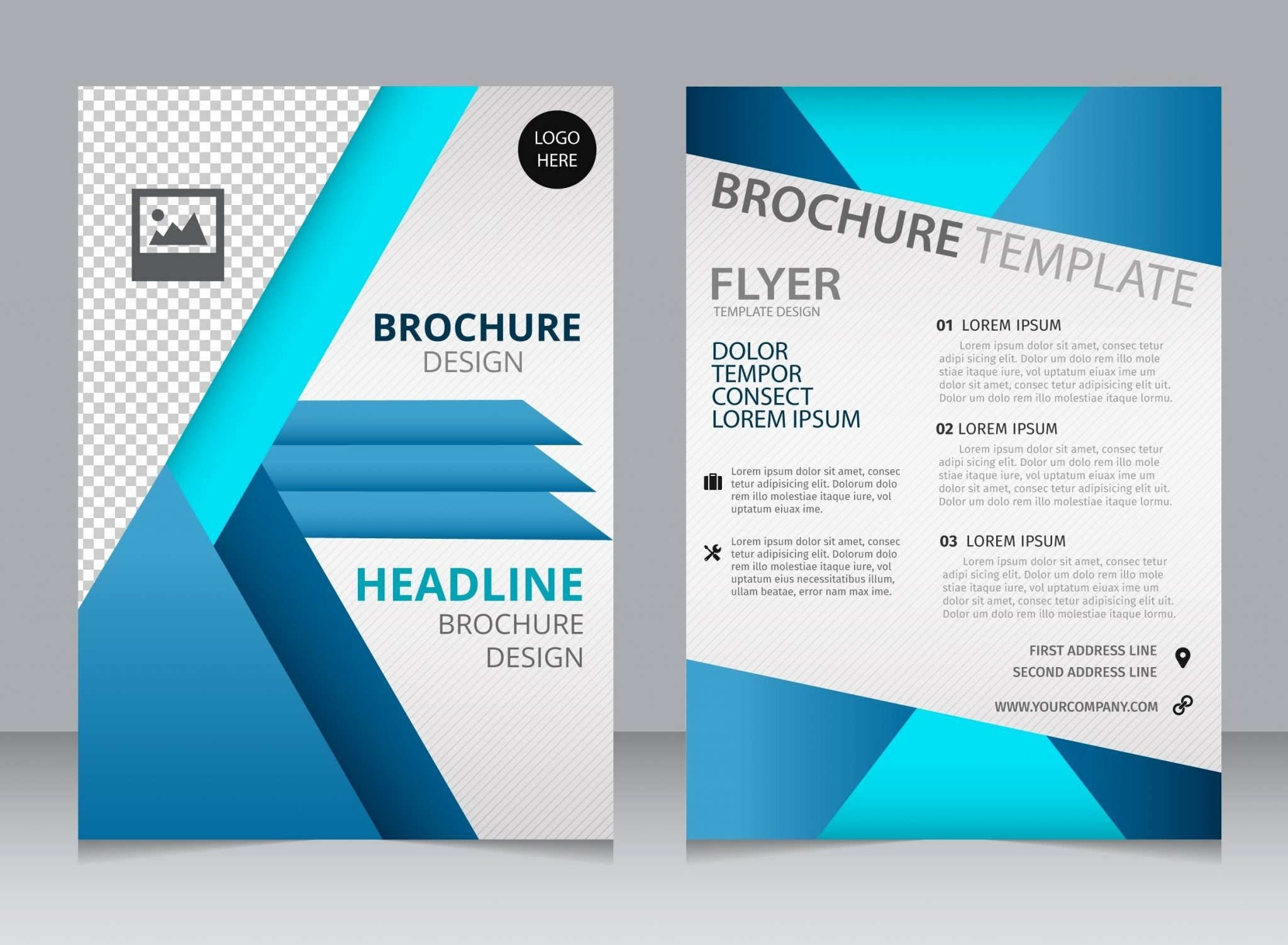 A4 Free Brochure Template for Word