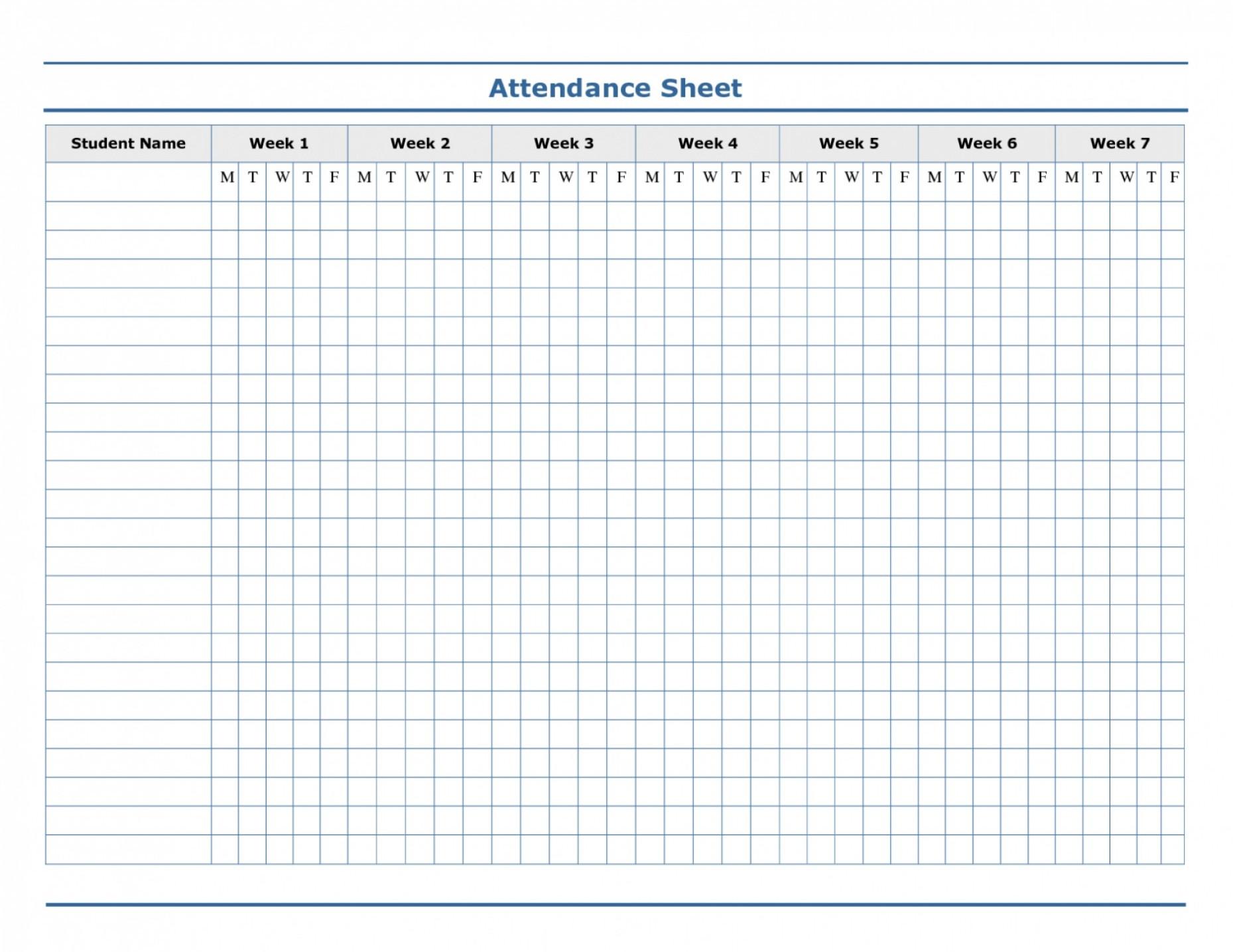Employee Attendance Sheet Excel