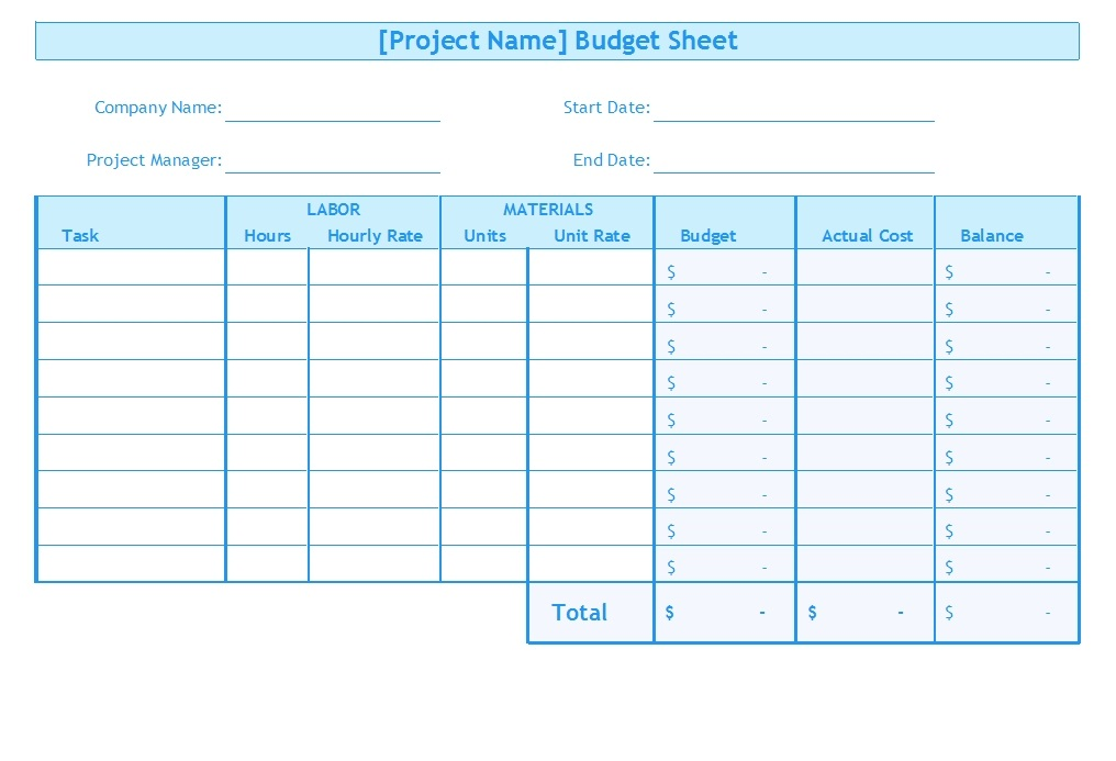 Free Budget Template