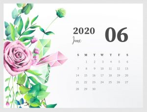Beautiful June 2020 Calendar