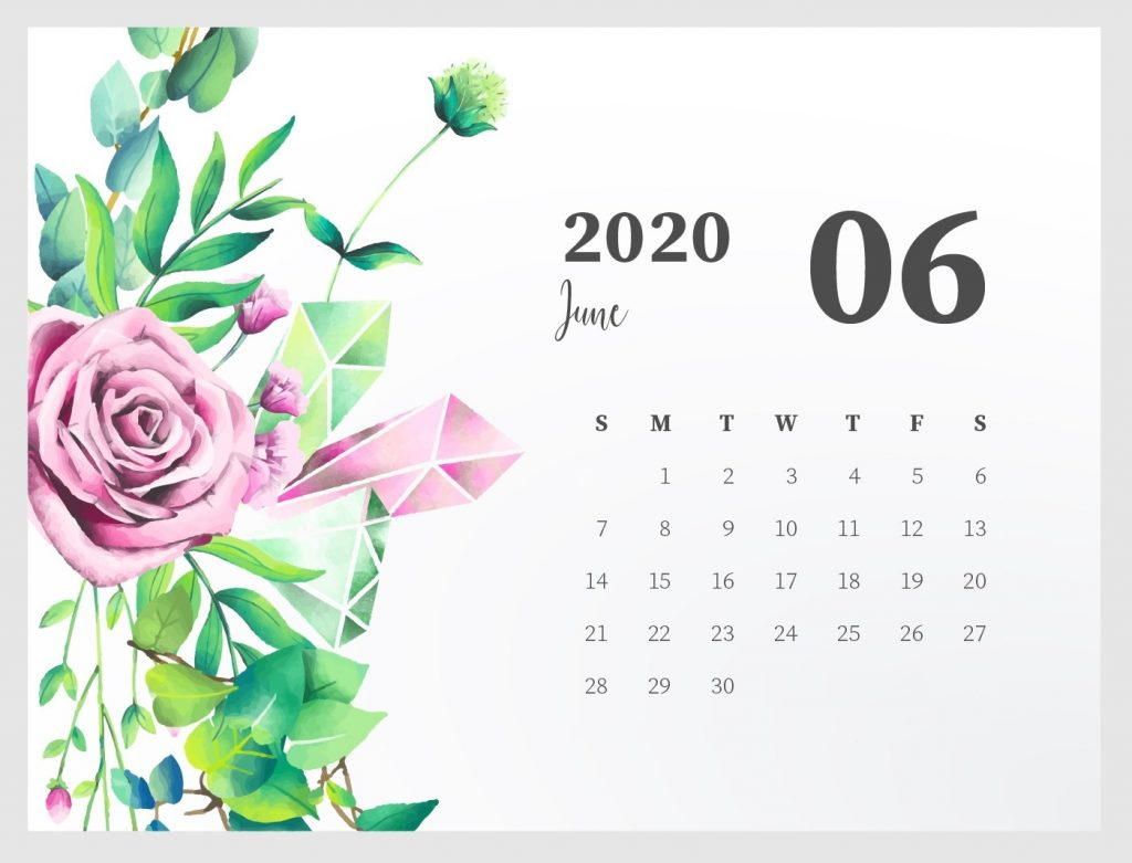 Beautiful June 2020 Calendar