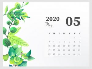 Beautiful May 2020 Calendar